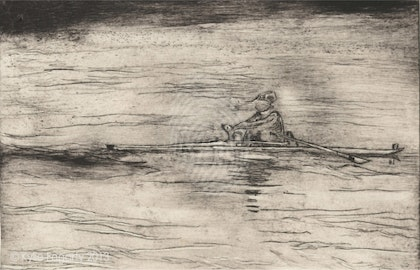 Single on Lake Burley Griffin - Intaglio Etching 1 of 10 Ed. 1 of 10