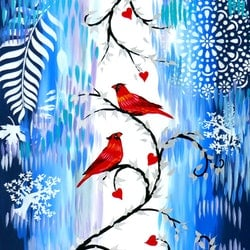 Red cardinals copy cathy snow bluethumb art 4981