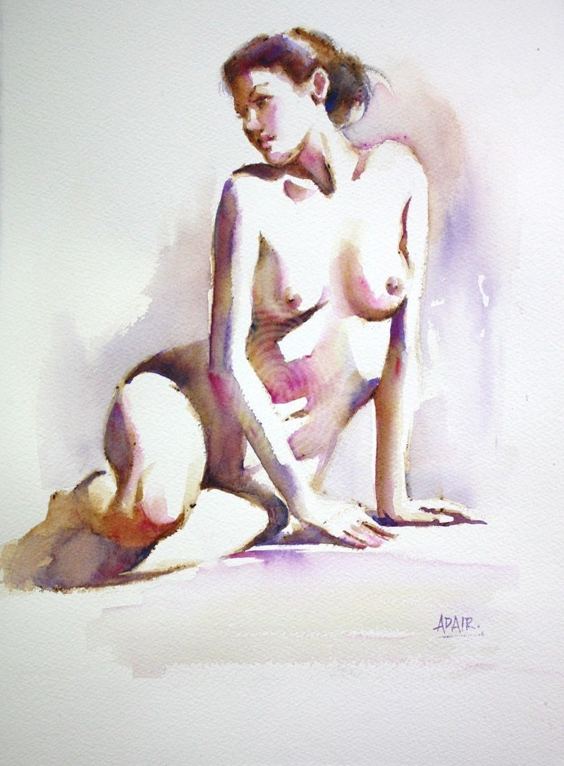 Figure Study in Watercolour