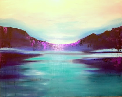 Crying Mountain (large painting 152 x 122 cm)