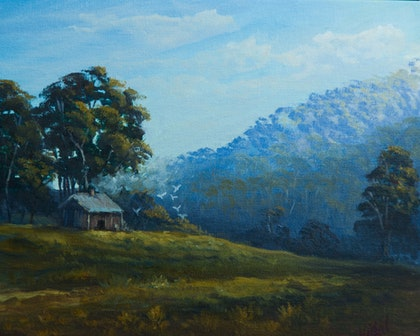 Oil on Canvas - Farms Hawksbury region, NSW