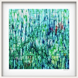 The garden in white box frame george hall bluethumb art 0565