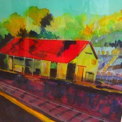 Historic kilmore east railway station margaret morgan watkins bluethumb art e70d