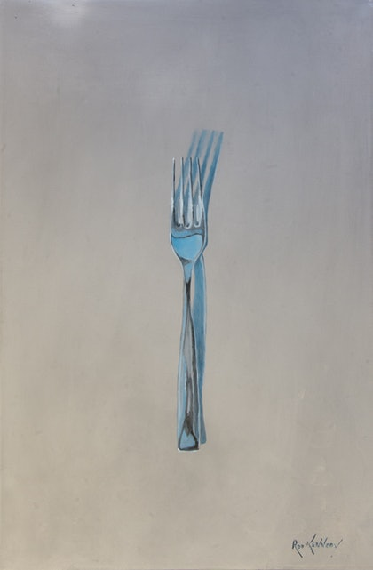 Fork on Metal Bench