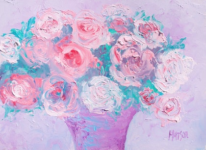 Abstract Roses - Framed