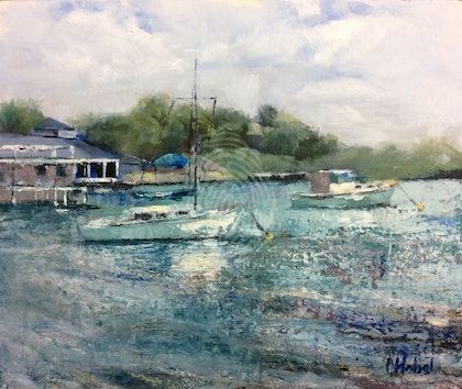 Noosa Marina Plein Air Painting