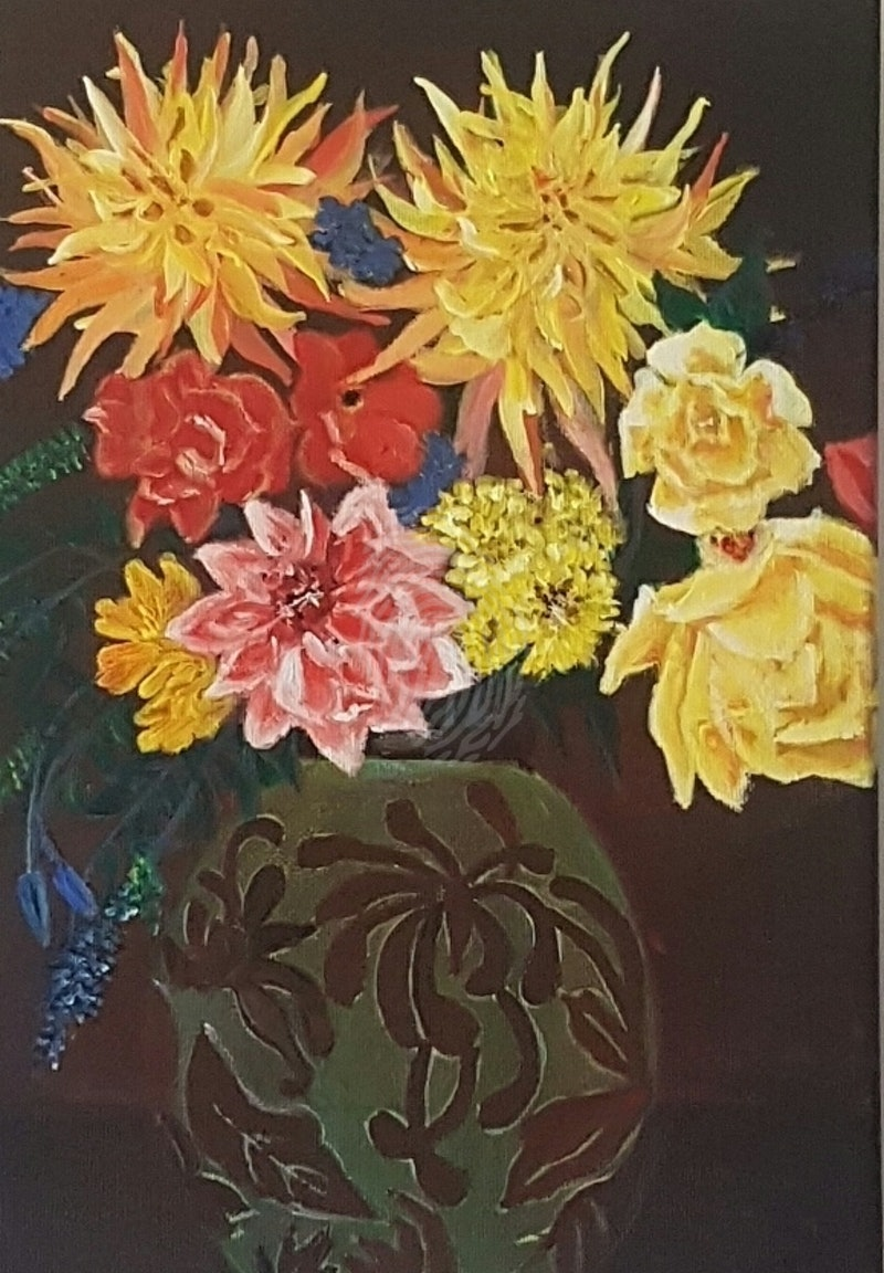 Vintage flower vase by jeyanthi subramaniam paintings for sale share reviewsmspy