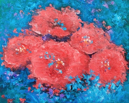 Red Flowers Abstract