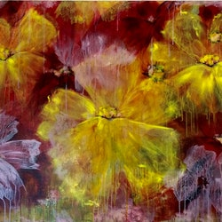 The flower is blown 123x92x3 5 large canvas louise croese bluethumb art 509f