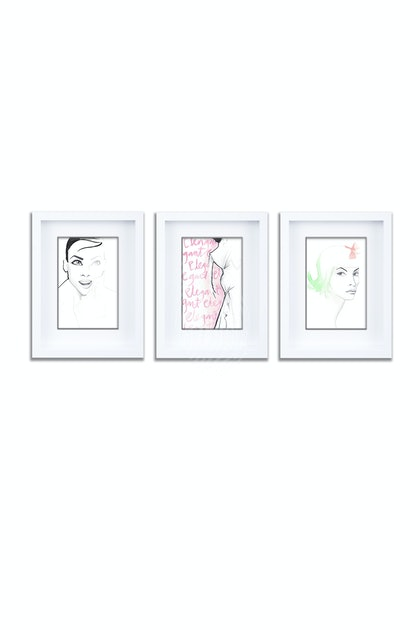 Joie De Vivre Gift Pack of 3 Individually Framed Limited Edition Prints Ed. 1 of 25