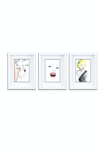 Hot Lips Gift Pack of 3 Individually Framed Limited Edition Prints Ed. 1 of 25