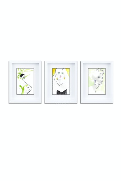 Citrus Squeeze Gift Pack of 3 Individually Framed Limited Edition Prints Ed. 1 of 25