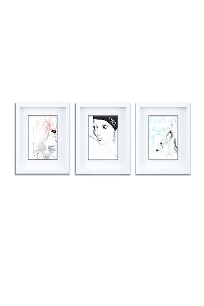 Les Girls Gift Pack of 3 Individually Framed Limited Edition Prints Ed. 1 of 25