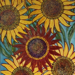 Dancing sunflowers 2 of 2 corinne young bluethumb art e004