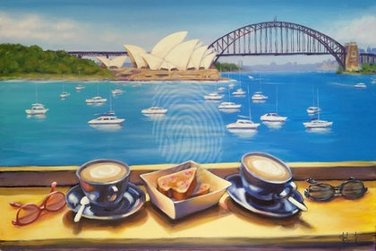 AUSTRALIA DAY SALE   WAS $1,600.    Brunch on the Harbour. A view of the Opera House and Harbour Bridge from  the Botanic Garden Sydney.