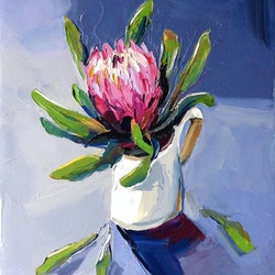 Protea and jug sally glover bluethumb art 1b44