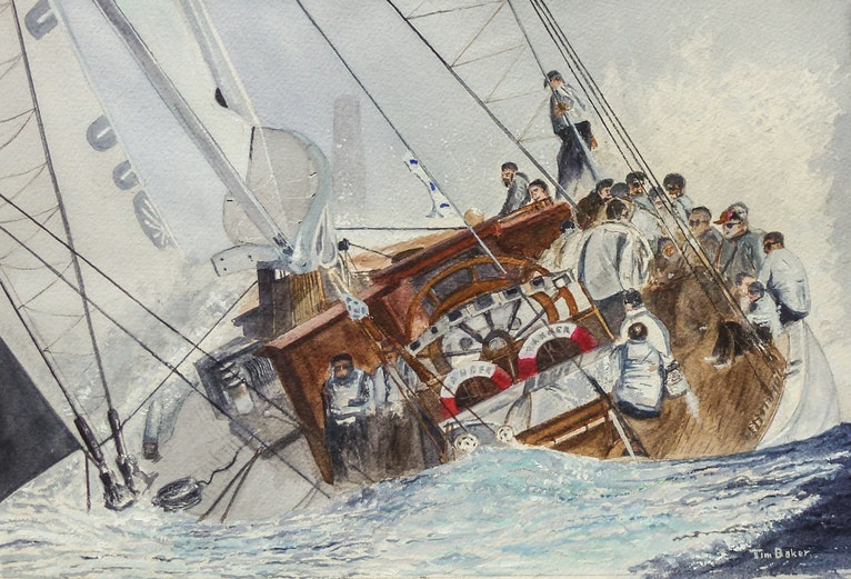 Mark ahead - Starboard Bow