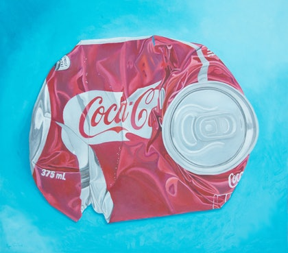 Exploded Cola Can