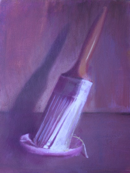 Study of a brush. Oil on Canvas