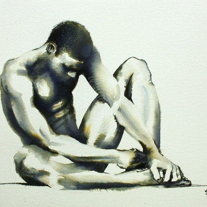 Male Nude Figure Study