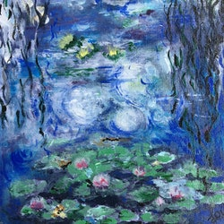 Monet water lilies reduced to sell from 210 now 150 april lockwood bluethumb art 45e2