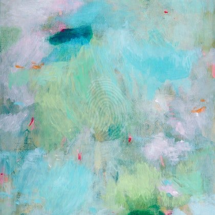 'Depths' abstract painting by Belinda Marshall
