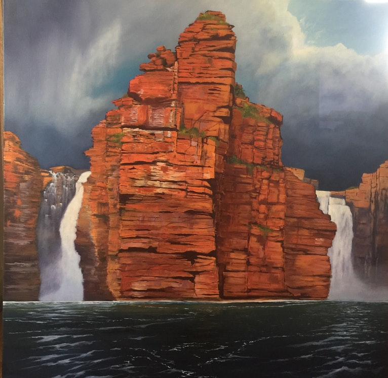Storm brewing on King George Falls