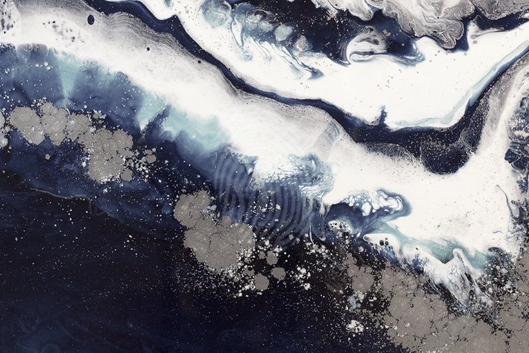 Black n White  Abstract Ice Flow- Limited Edition Print - Seascape Wave  Abstract wall art Ed. 1 of 25