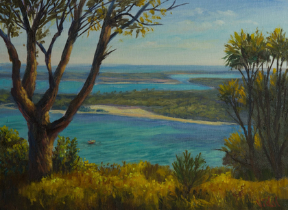 A view on Lakes Entrance, Gippsland, Victoria - Oil on Canvas