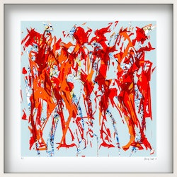 Groovers and shakers limited edition giclee print on paper in 52 5cm white shadow box frame george hall bluethumb art 2bb6