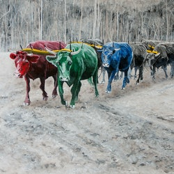 Rgb bullock train rodney black bluethumb art 1779