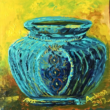 Pizzazz to the blue pot