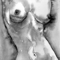 Female nude study 200917 linda hammond bluethumb art 22f4