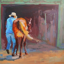 Jim and the young yearling mirjana psakis bluethumb art d961