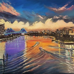 Brisbane river reflections donna gibb bluethumb art d597
