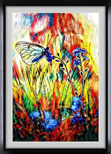 Expressionist Butterfly   - Abstract - Limited Edition Ed. 1 of 50