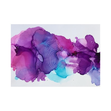 Lylas alcohol ink print