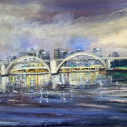 Bridges of brisbane the jolly bridge donna gibb bluethumb art 716f