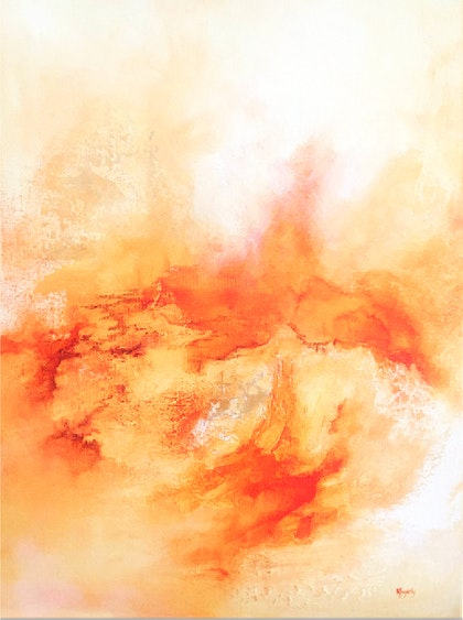 Radiant i - Professional Grade Mixed Media Painting on Gallery Depth Stretched Cotton Canvas