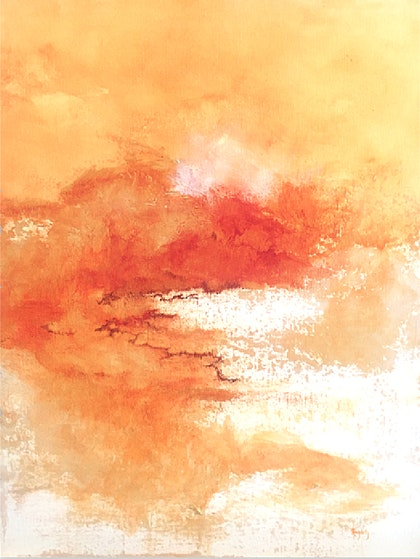 Radiant ii - Professional Grade Mixed Media Painting on Gallery Depth Stretched Cotton Canvas
