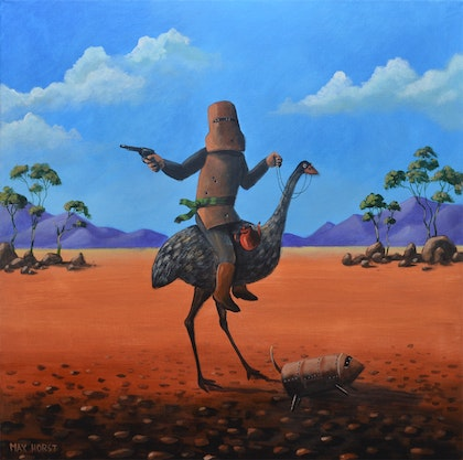Ned Kelly and his Emu