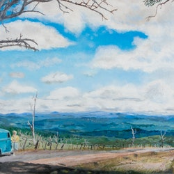 Snowy mountains highway rodney black bluethumb art feda