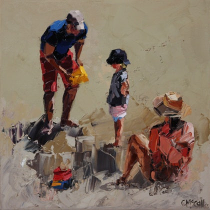 Family Of Three - Limited Edition Giclee Art Print Ed. 1 of 100