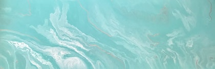 """ORIGINAL ABSTRACT ART PAINTING ON STRETCHED CANVAS  """"AMAZONITE""""  MINT GREEN SILVER WHITE"""