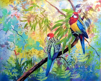 Just the two of us - Eastern Rosellas