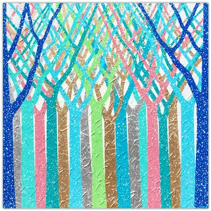 Dreamy Rainforest Abstract Trees (special save $150)