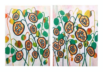Seeds Of Life no. 1 and 2 Diptych (together they measure 92cm x 61cm)