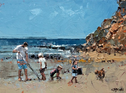 Collecting Pippies - Limited Edition Giclee Art Print  Ed. 1 of 100