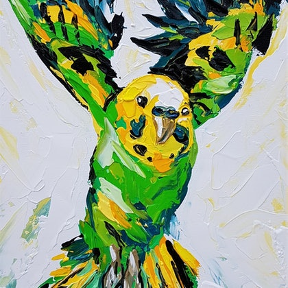 Green and Gold Budgie