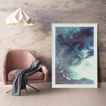 ABSTRACT SEASCAPE Grey Dreaming Abstract Flow- Limited Edition Print - Seascape Wave  Abstract wall art  Ed. 2 of 25